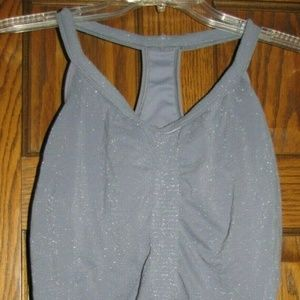 ATHLETA FAST TRACK WOMENS STEEL GRAY SILVER TANK